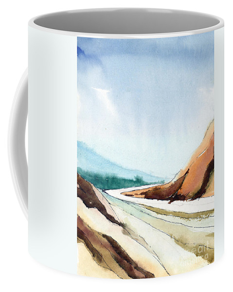 Landscape Coffee Mug featuring the painting Far Away by Anil Nene
