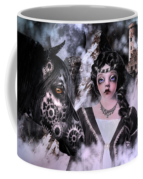 Digital Art Coffee Mug featuring the digital art Far Far From Home by Artful Oasis