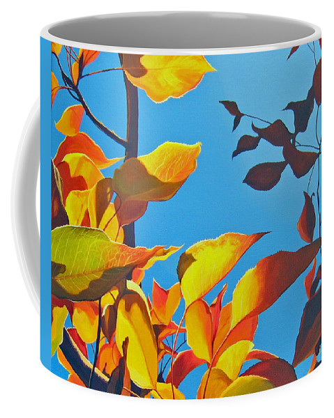 Fall Coffee Mug featuring the painting Farewell To Summer by Hunter Jay