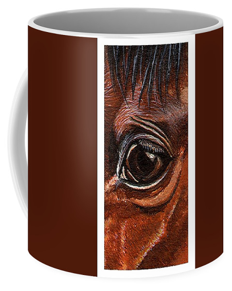 Horse Coffee Mug featuring the painting Farley Detail by Kristen Wesch