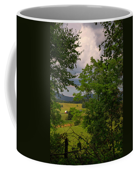 Virginia Coffee Mug featuring the photograph Farm Before The Storm by Anthony Zeljeznjak