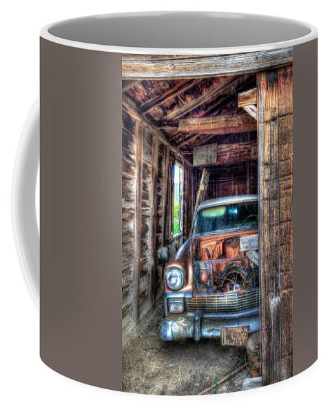 56 Chevy Coffee Mug featuring the photograph Farm Fresh by Randy Waln