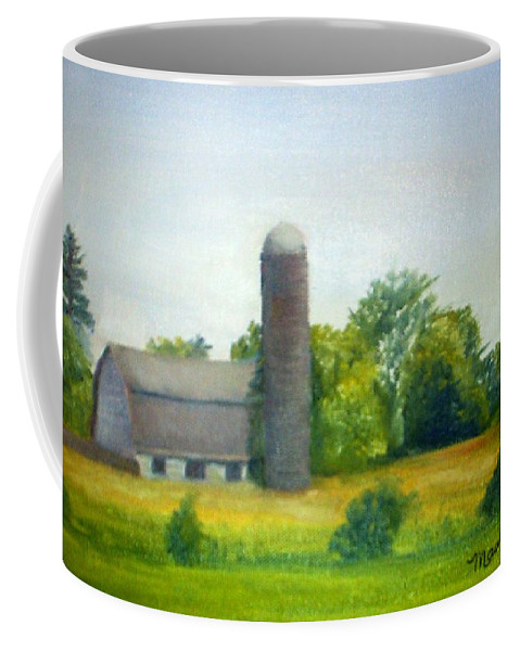 Farm Coffee Mug featuring the painting Farm In The Pine Barrens by Sheila Mashaw