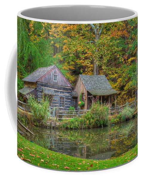 Farm Coffee Mug featuring the photograph Farm In Woods by William Jobes