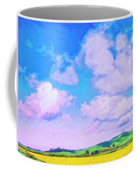 Farm Near San Luis Obispo Coffee Mug featuring the painting Farm Near San Luis Obispo by Dominic Piperata