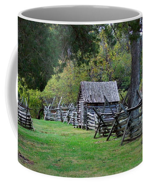 Scenic Tours Coffee Mug featuring the photograph Farm Structures by Skip Willits