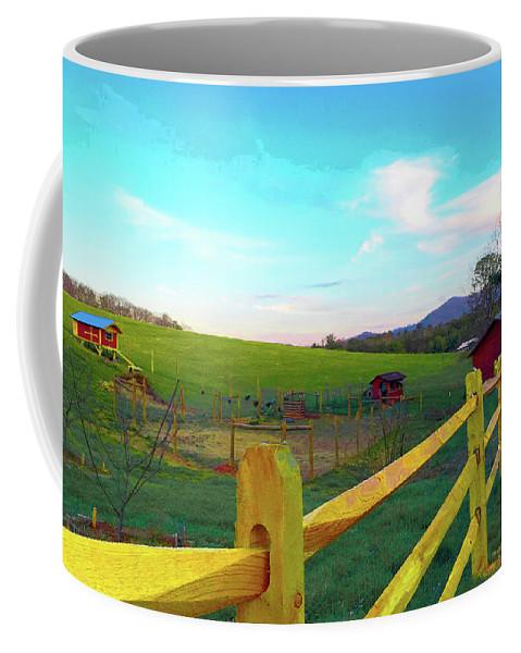 Farm Coffee Mug featuring the photograph Farm Yard Fence by Rod Whyte