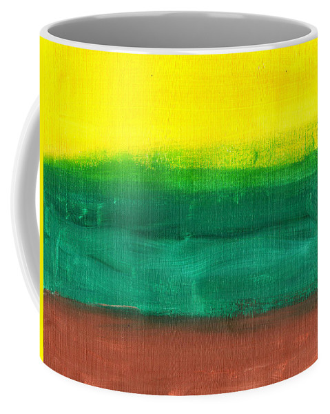 Art & Collectibles Coffee Mug featuring the painting Farmers Peace by Sindy Original