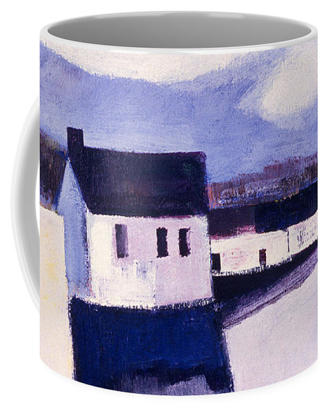 Winter Coffee Mug featuring the painting Farmhouse In Winter by Betty Pieper
