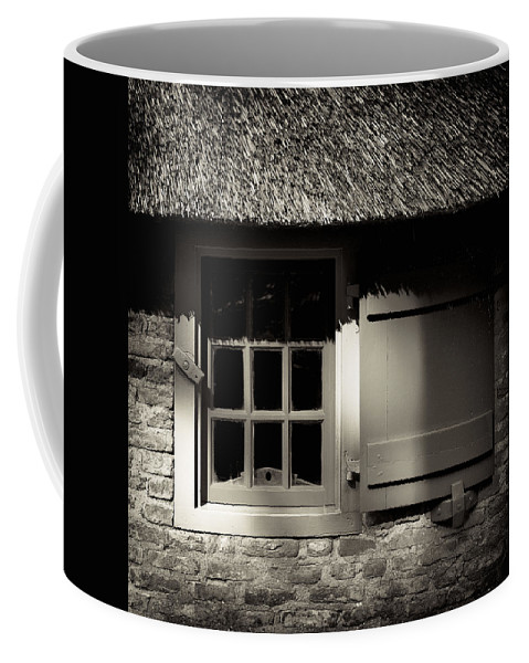 Dutch Coffee Mug featuring the photograph Farmhouse Window by Dave Bowman