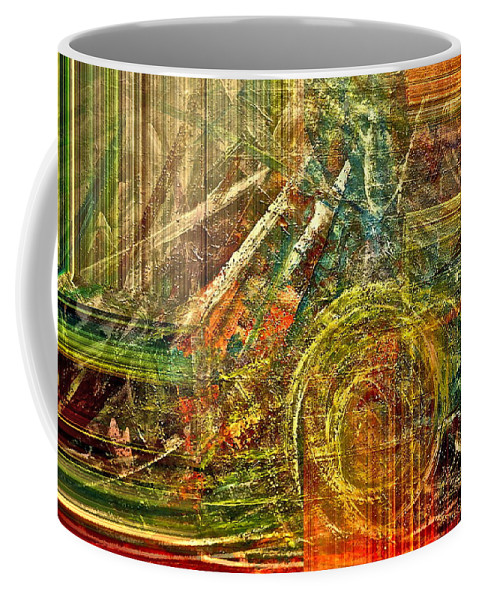 Abstract Coffee Mug featuring the mixed media Farming by Gwyn Newcombe