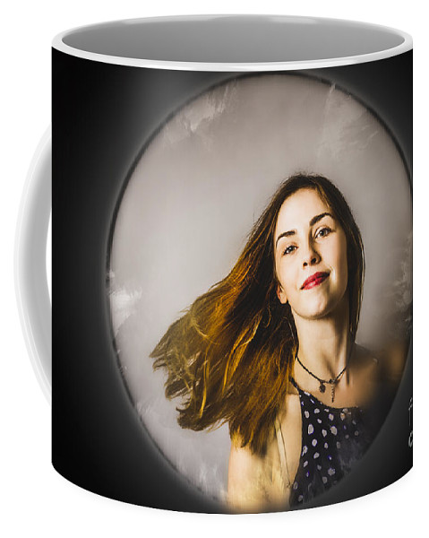 Salon Coffee Mug featuring the photograph Fashion And Makeup Woman At Beauty Salon Store by Jorgo Photography - Wall Art Gallery