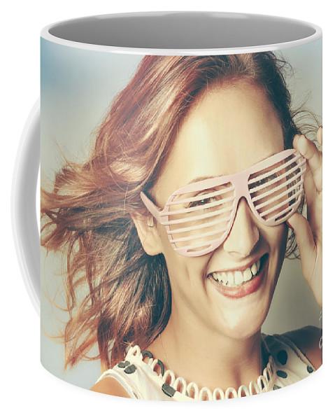 Glasses Coffee Mug featuring the photograph Fashion Eyewear Pin-up by Jorgo Photography - Wall Art Gallery