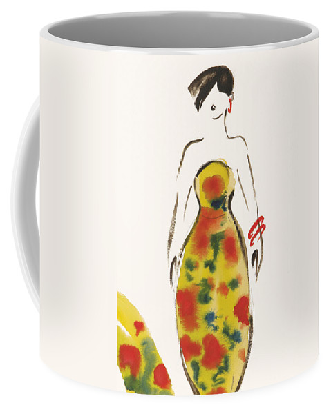 Watercolour Coffee Mug featuring the painting Fashion Iv by Susan Adams