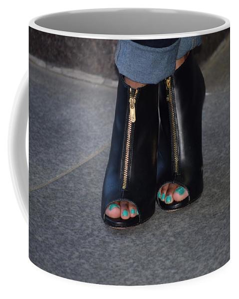 Fashion Coffee Mug featuring the photograph Fashionable Feet by Anita Goel
