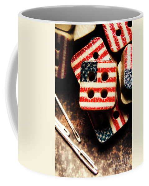 Tailoring Coffee Mug featuring the photograph Fashioning A Usa Design by Jorgo Photography - Wall Art Gallery