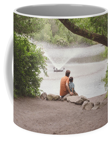 Father Coffee Mug featuring the photograph Father And Son 2 by Andrea Anderegg