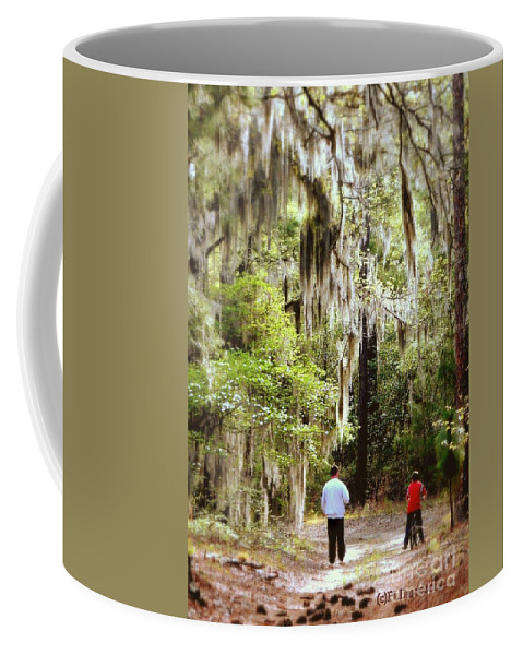 Father And Son Coffee Mug featuring the photograph Father And Son by Patricia L Davidson