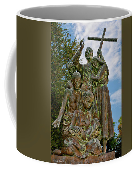 Statue Coffee Mug featuring the photograph Father Pedro Camps by Christopher Holmes