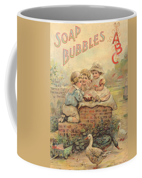 The Wurtherington Diary Coffee Mug featuring the painting Father Tucks Soap Bubble by Reynold Jay