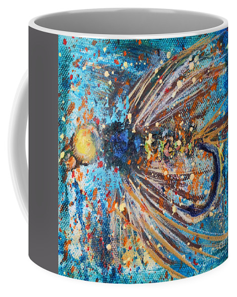 Fly Coffee Mug featuring the painting Favorite Flies 1 by Jodi Monahan
