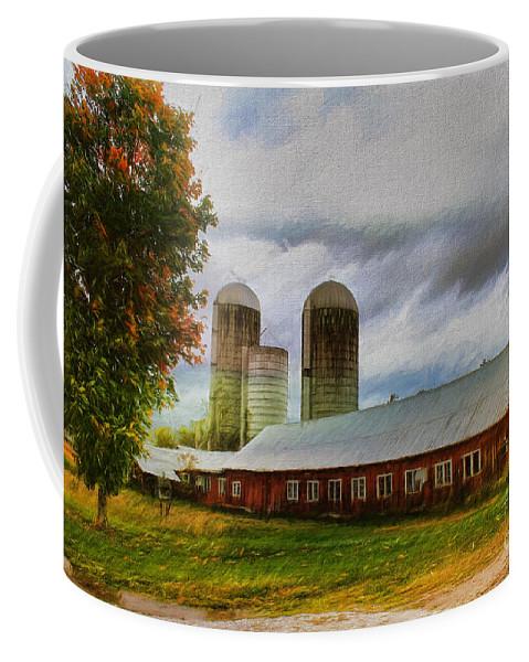 Farm Coffee Mug featuring the painting Fay Farm by Deborah Benoit