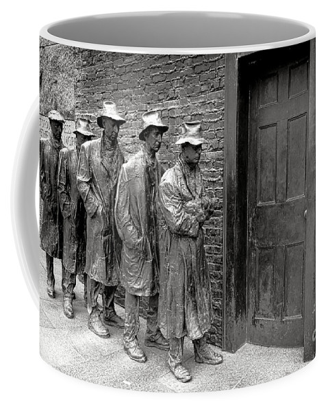 Fdr Coffee Mug featuring the photograph Fdr Memorial Breadline by Olivier Le Queinec
