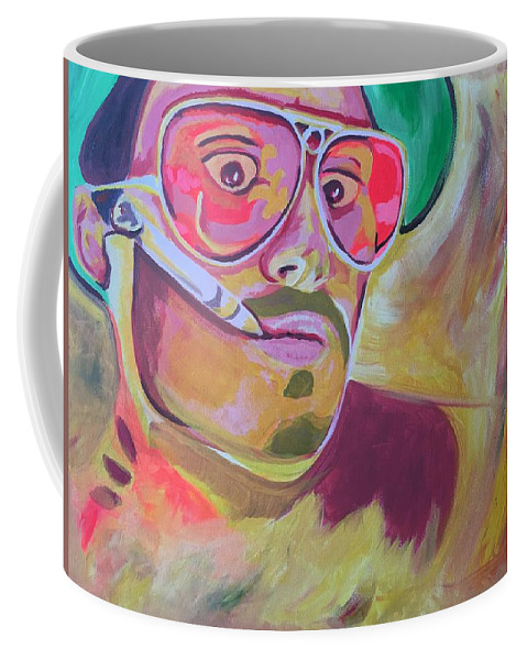 Fear And Loathing Coffee Mug featuring the painting Fear And Loathing by Evan C Roberts
