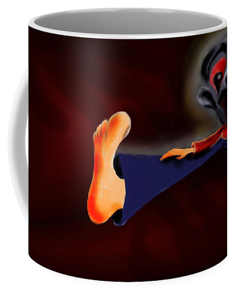Dream Coffee Mug featuring the painting Fear Dream by Helmut Rottler