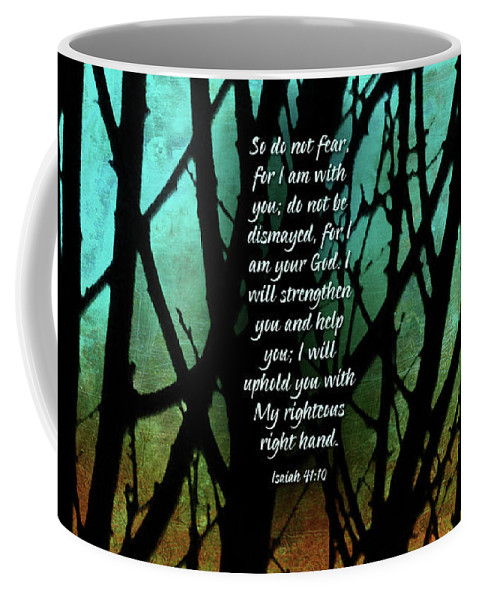 Trees Coffee Mug featuring the mixed media Fear Not by Shevon Johnson