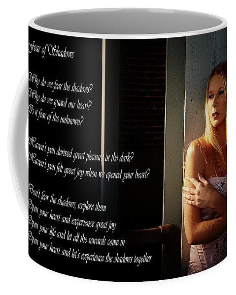 Clay Coffee Mug featuring the photograph Fear Of Shadows by Clayton Bruster