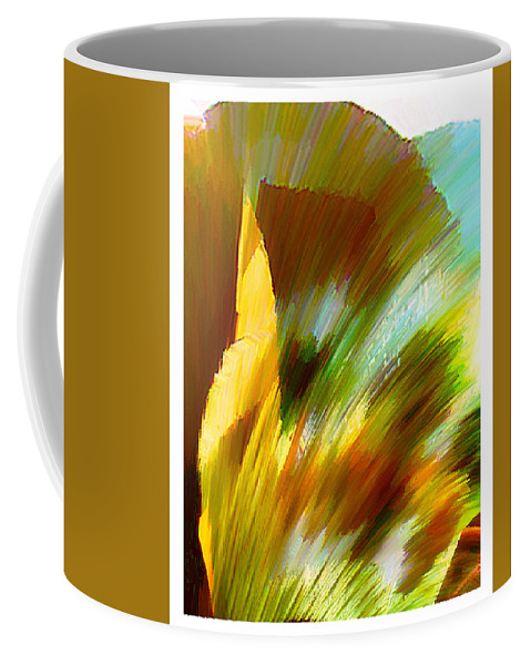 Landscape Digital Art Watercolor Water Color Mixed Media Coffee Mug featuring the digital art Feather by Anil Nene