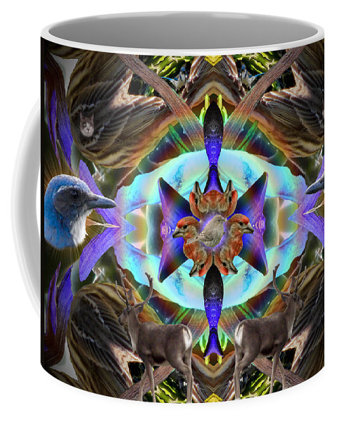 Feathers Coffee Mug featuring the digital art Feathered Nature by Glen Faxon