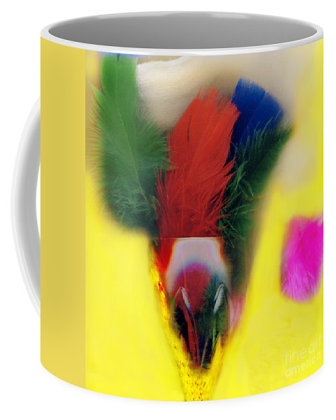 Feather Coffee Mug featuring the digital art Feathers In Wine Glass by Madeline Ellis