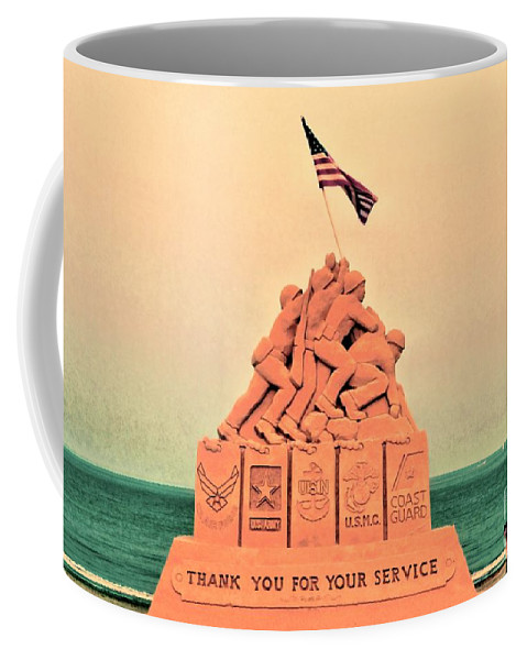 Iwo Jima Coffee Mug featuring the photograph February 1945 by Jasmin Hrnjic