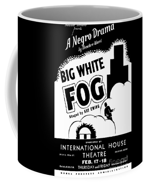 Federal Theatre Presents Big White Fog Coffee Mug featuring the painting Federal Theatre Presents Big White Fog by Celestial Images