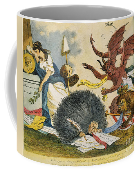 1799 Coffee Mug featuring the photograph Federalist Cartoon, C1799 by Granger