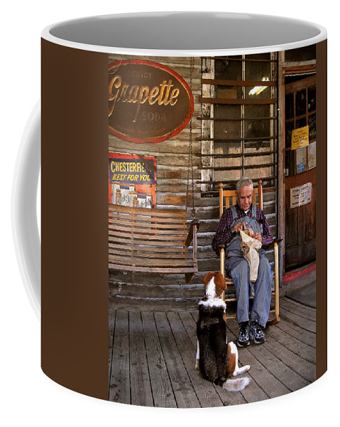 Rustic Coffee Mug featuring the photograph Feed The Dog by J K York
