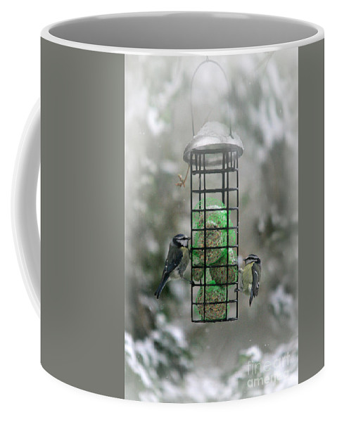 Winter Coffee Mug featuring the photograph Feed The Hunger by Angel Ciesniarska