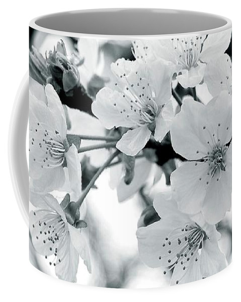 Black And White Coffee Mug featuring the photograph Feelings by Angie Tirado