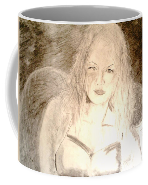 Cantina Coffee Mug featuring the drawing Felina by J Bauer