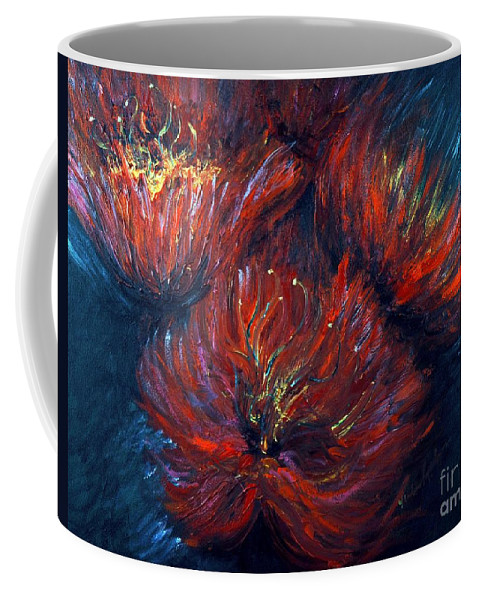 Abstract Coffee Mug featuring the painting Fellowship by Nadine Rippelmeyer