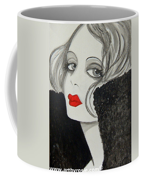 Cinema Coffee Mug featuring the painting Femme Fatale by Rosie Harper