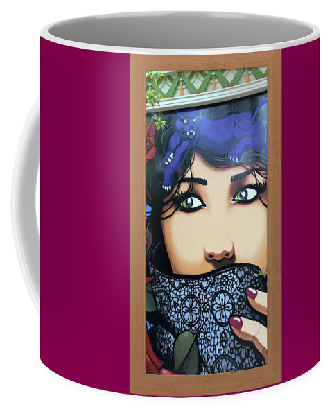 Femme Watcher Coffee Mug featuring the photograph Femme Watcher by Shirley Anderson