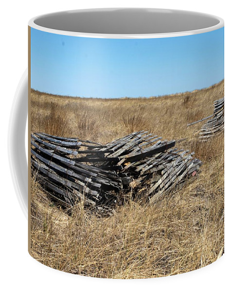 Coffee Mug featuring the photograph Fence Bails by Bruce Gannon