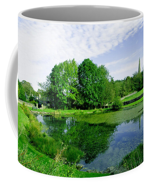 Green Coffee Mug featuring the photograph Fere Mere At Monyash by Rod Johnson