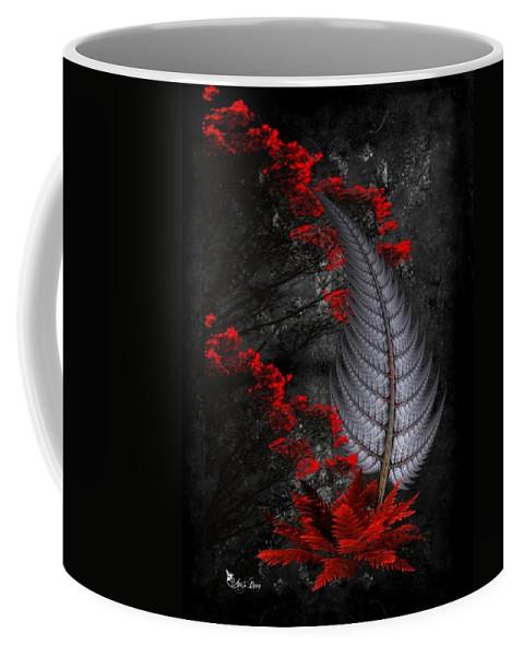 Fantasy Coffee Mug featuring the digital art Silver Fern by Ali Oppy