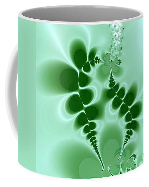 Digital Art Coffee Mug featuring the digital art Ferns by Amanda Moore