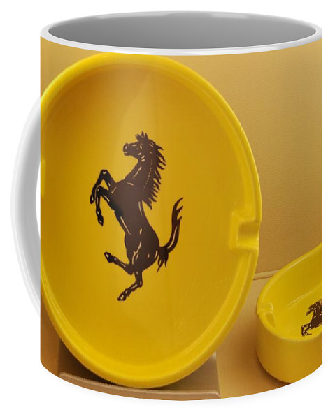 Stallion Coffee Mug featuring the photograph Ferrari Ash Catchers by Rob Hans