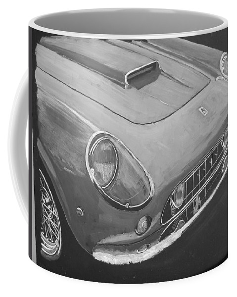 Car Coffee Mug featuring the painting Ferrari F250 California by Richard Le Page
